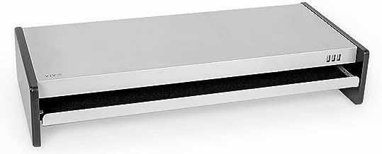 VIVO Steel Ergonomic Desk Computer Monitor Laptop Printer Riser Stand   28 inch Wide Desktop Organizer with Storage Drawer and Integrated 2.0 USB Ports (STAND-V000N)