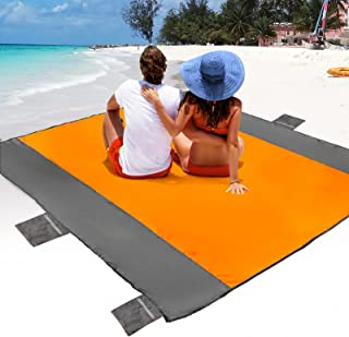 POPCHOSE Sandfree Beach Blanket, Large Sandproof Beach...