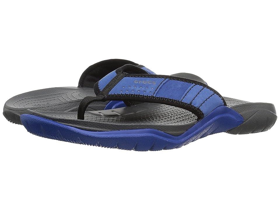 Crocs Swiftwater Flip (Blue Jean/Slate Grey) Men