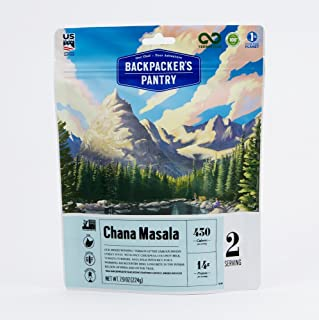 Backpacker's Pantry Chana Masala, 2 Servings Per Pouch, Freeze Dried Food, 14 Grams of Protein, Vegan, Gluten Free
