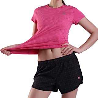Performance Sportwear Suit Womens Yoga Tops Short Sleeve Tee Shirts Ladies Fitniess Stretch Shorts Single or Set Packs