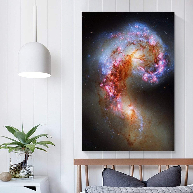 para dormitorio familiar P/óster de lienzo para pared de Space 18 y pared 30 x 45 cm ba/ño dise/ño moderno