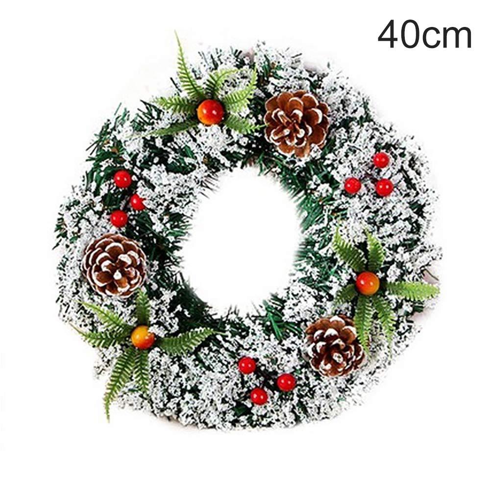 En Métal Doré Couronne Avec Rouge Bijoux Décoration de Noël 11 cm