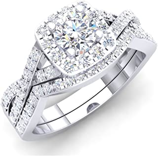 Best cheap white gold wedding ring sets Reviews