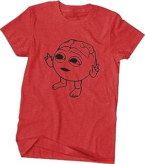 Lil Dicky Brain Shirt - Big Print - Red with Black Print