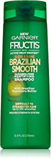 Garnier Fructis Sleek & Shine Brazilian Smooth Shampoo, Difficult to Straighten Hair, 12.5 fl. oz.