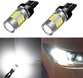 Alla Lighting T20 7440 7443 LED Light Bulbs Super Bright 4014 54-SMD 6000K Xenon White 12V W21W 7441 7442 7444 for Back-up Reverse Turn Signal Brake Stop Tail Light Replacement