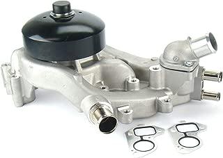 OAW G9670 Engine Water Pump w/Thermostat for Cadillac Escalade, Chevrolet Avalanche Colorado Silverado Suburban Tahoe Van, GMC Canyon Envoy Sierra Yukon, Hummer H2 H3 4.8L 5.3L 6.0L 07-14