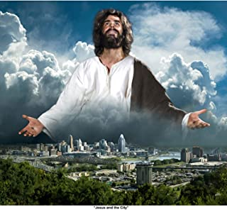 """Deb Minnard , an Award Winning Artist Presents """"Jesus and The City"""" This Interesting Image Will Bring a New Perspective on The Role of Jesus to Your Home. This 8x10, Print Will Last a Lifetime."""