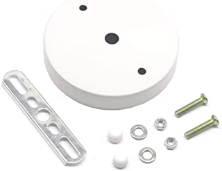 binifiMux Ceiling Canopy Kit, 2-Pack White Ceiling Plate Chassis Base Pendant Light Accessories 98mm x 18mm w Screw