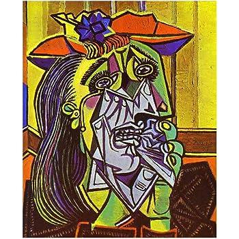 JH Lacrocon La Pleureuse 1937 de Pablo Picasso - 100X120 cm Peintures Abstrait à Main Tableau ...