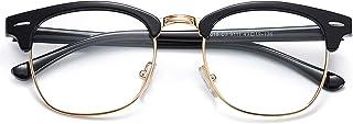 SOJOS Retro Semi Rimless Polarized Sunglasses Horn Rimmed UV400 Glasses SJ5018
