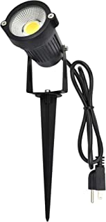 J.LUMI GSS6005 Outdoor LED Spotlights 5W, 120V AC, 3000K Warm White, Outdoor Use, Metal Ground Stake, Flag Light, Outdoor Spotlight with Stake, UL Cord 3-ft with Plug