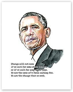 AtoZStudio Barack Obama Poster // Cool Wall Art Print // American President // Quote (8x10)