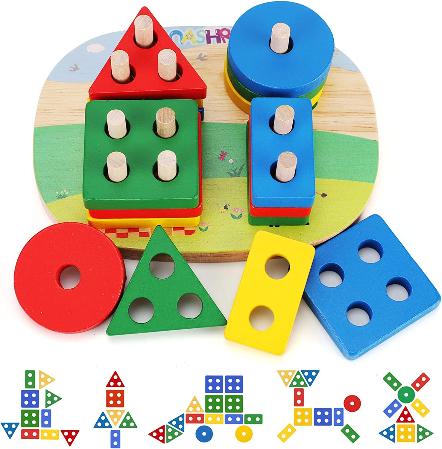 Educational Toddler Toys for Boys Wooden Color Girls Reco New sales Shape 55% OFF