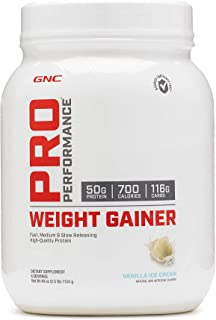 GNC Pro Performance Weight Gainer – Vanilla Ice Cream, 6 Servings, High-Quality..