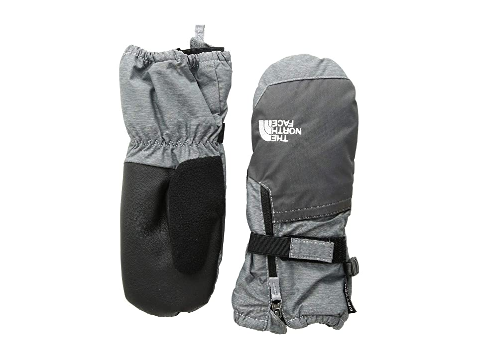The North Face Kids Toddler Mitt (Infant/Toddler) (TNF Medium Grey Heather/Graphite Grey) Extreme Cold Weather Gloves