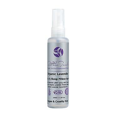 Organic Lavender pillow spray lavender spray mist - Lavender pillow spray for sleep - handcrafted pure ORGANIC LAVENDER essential oil - 100% VEGAN - Natural - Paraben Free - Not tested on animals