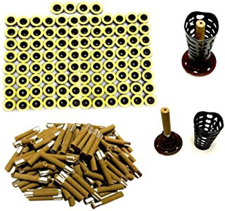 100PCS Moxa Sticks for Stick on Moxibustion, Five Years Pure Moxa Cone 45:1 with Updated Candle Base, Moxa Roll Stick for ...
