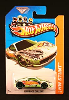 FERRARI 458 CHALLENGE (WHITE) * HW STUNT / HW DRIFT RACE * 2013 Hot Wheels Basic Car 1:64 Scale Series * Collector #81 of 250 *
