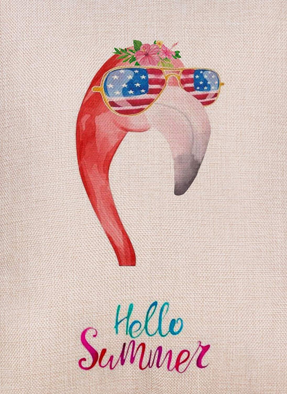 Dyrenson Hello Free Shipping New Summer Flamingo Garden Sunglasses Double Flag New arrival Sid