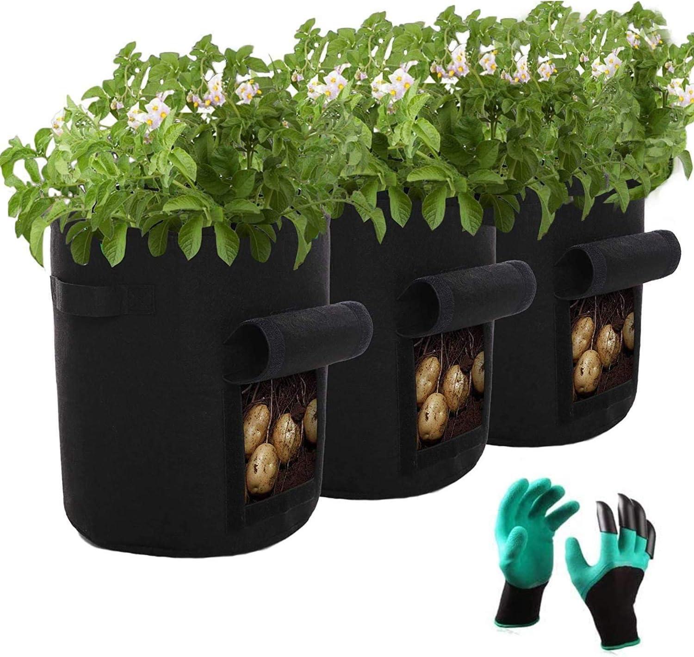 a ray of sunshine Bolsas de Cultivo de Papa,Bolsa para Cultivo de Patatas,Bolsa de Cultivo de Plantas,Bolsa de Siembra,Saco para Plantas,Maceta de Cultivo,Macetas de Tela