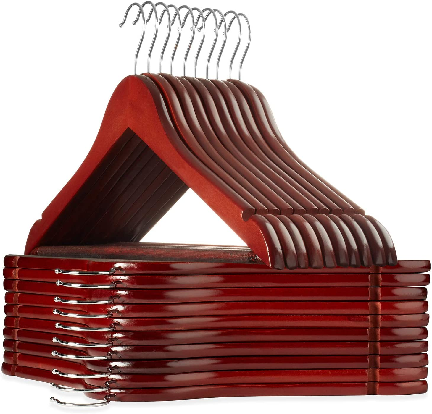 Casafield - 20 Cherry Wooden A Genuine surprise price is realized Suit Premium w Hangers Wood Lotus