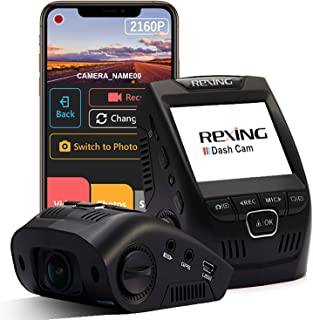 """Rexing V1 - 4K Ultra HD Car Dash Cam 2.4"""" LCD Screen, Wi-Fi, 170° Wide Angle Dashboard Camera Recorder with G-Sensor, WDR,..."""