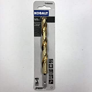 49//64 Drill Diameter High Speed Steel 118-Degree Split Point Cle-Line C17047 Silver and Deming Reduced Shank Drill Reduced Flatted Shank Black and Gold Finish
