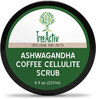 TreeActiv Ashwagandha Coffee Cellulite Scrub Anti Cellulite Treatment Natural Cellulite Remover from Legs and Body Caffein...