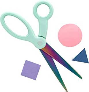 Yoobi Scissors | Adult Size | Green Mint Holographic Design | Great for School, Home or Office Use | Right or Left Handed