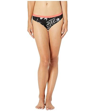 Roxy Fitness Print Full Swim Bottoms (True Black Full Bicolys) Women