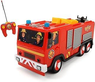 Dickie Toys RC brandweerman Sam Jupiter, radiogestuurde brandweerauto, brandweer, 22 cm, voor kinderen vanaf 3 jaar