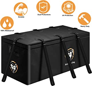 SUNER POWER Waterproof Hitch Cargo Carrier-Heavy Duty Tray Luggage Storage Bag with 8 Reinforced Straps+ 2 Handles- Perfect for Car, SUV, Van, Truck Basket Trailer - 20 Cubic Feet (60
