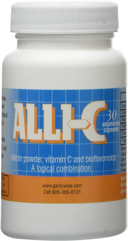 ALLI-C Allicin with Vitamin C - 30 Bioflavonoids Ranking Award TOP3 Vegetarian and