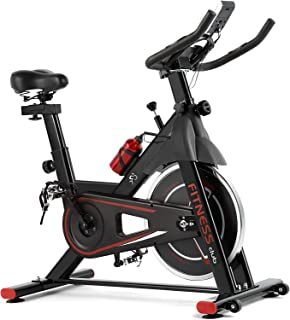 Fitnessclub Exercise Bike, 330Lbs Cycling Bicycle Stationary with 35 LBS Flywheel, Adjustable Handlebar,Comfortable Seat Cushion ,Cup Holder, LCD Monitor Display & Phone Mount for Home Cardio Workout Training Indoor