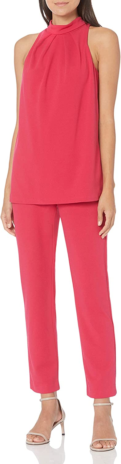 Adrianna Papell Women's Knit Crepe Popover Jumpsuit