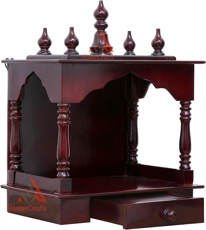 Homecrafts LED Light Home Temple 激安卸販売新品 Wooden Pooja 予約 Temp Mandir
