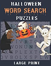 Halloween Word Search Puzzles: Large Print Scary Word Search Puzzles