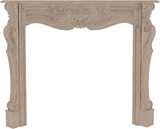 Pearl Mantels 134-48 Deauville Fireplace Mantel, 48-Inch, Unfinished