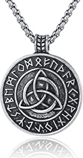 Pewter Viking Necklace Norse Amulet Pendant Necklace Celtic Pagan Jewelry Viking Gift Jewelry