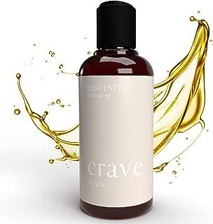 CRAVE Huile de Massage Relaxante - 100% Pure & Naturelle - pour Massage et Relaxation - Mélange d'Huile d'Amande Douce Bio...