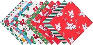 Pacote de 40 peças de tecido de algodão de Natal ExCEART para artesanato de patchwork para o Natal, faça você mesmo, costu...