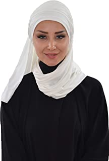 Jersey Shawl for Women Cotton Bonnet Modesty Turban Cap Wrap Instant Scarf