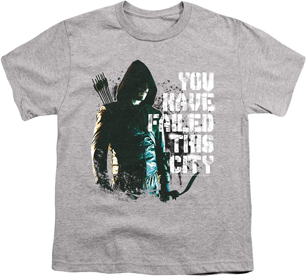 Arrow You Have Failed Unisex Youth T Shirt, Athletic Heather, Medium