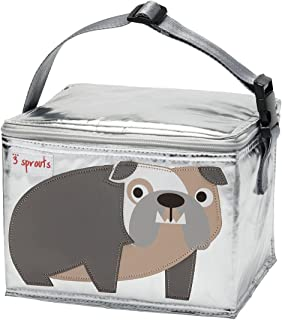 3 Sprouts Lunch Bag, Bulldog, Grey
