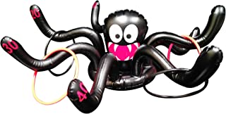 Fun Central 22 Inch Inflatable Spider Ring Toss Game Carnival for Kids & Adults - Inflate Toss Outdoor Activity