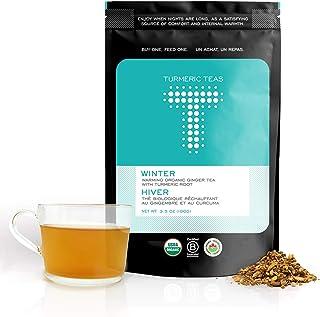 Turmeric Teas WINTER - Warming Organic Turmeric Ginger Tea. Loose Leaf Tea, 50-70 Servings of Anti-inflammatory, Immunity ...