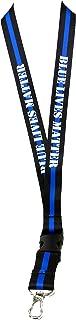 Blue Lives Matter Lanyard Keychain Badge Holder leo Law Enforcement