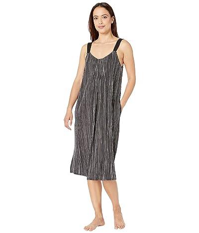 Donna Karan Modal Spandex Jersey 42 Gown (Black Stripe) Women